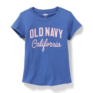 NWT Old Navy Blue California Shirt Top Size 2T